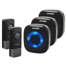Physen Model Cw Waterproof Wireless Doorbell kit with 2 Buttons and 3 Plugin at