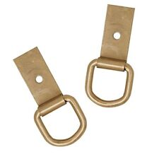 2 Pack Brass Plated Saddle Repair Dee & Clip