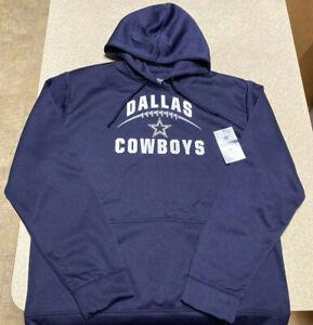 Dallas Cowboys Authentic Emil Pullover Hoodie Jacket Navy Blue Men's Size Medium