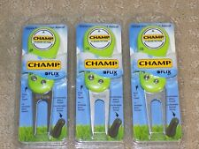 Champ Flix Divot Repair Tool - Lime Green or Neon Pink You Choose - 3 Pack
