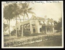 Antique Photo John R Bradley Mansion Palm Beach Florida FL
