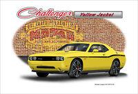 2012 Dodge Challenger SRT Yellow Jacket Muscle Car Art Print