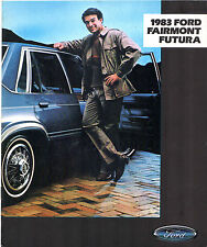 Ford Fairmont Futura 1983 USA Market Sales Brochure Sedan Coupe S