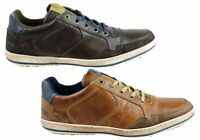 Mens Wild Rhino Crest Leather Lace Up Casual Shoes Made In Portugal - ModeShoesA