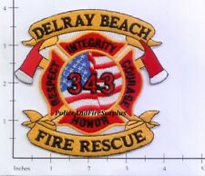 Florida - Delray Beach FL Fire Dept Patch   Flag 343 WTC