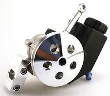 GM Type II Power Steering Pump W/ Reservoir & billet bracket and pulley SBC SWP