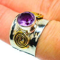 Amethyst Copper 925 Sterling Silver Ring 7 Ana Co Jewelry R39151F