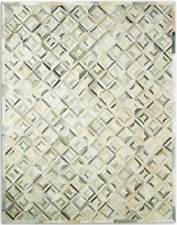 Restoration Hardware Diamond Grey Cowhide Rug Handmade 6x9  $$$ $3499 MSRP $$$