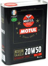 MOTUL Classic Oil 20W-50 2 Liter (7,95€/L) mineralisch Motorenöl Oldtimer 2L
