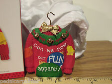 Hallmark 2013 Holiday Sweater Don we now our fun Apparel! Sweater Ornament