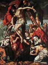 Hemessen Jan Sanders Van The Descent From The Cross A4 Print
