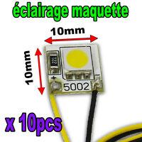 5002/10# 10pcs éclairage pour maquette à LED , blanc chaud, blanc, bleu, vert