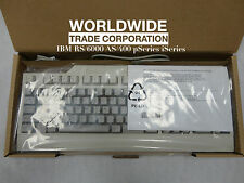 IBM 89P8440 6600 White Quiet Touch Keyboard US English ID 103p Ps/2 Rs6000
