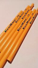 144 Yellow Recycled Newspaper Pencils - Flat Tip - 100% EcoFreindly HB