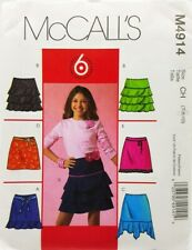 Girls Skirt Sewing Pattern M4914 Size 8 McCalls 6 Styles Easy