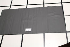 "GREY  Perforated Scrap Leather Cowhide Remnant 42"" x 21"" H16D21-6"