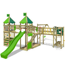 FATMOOSE LuckyLord Large XXL PlayGround Wood ClimbingFrame PlayHouse Swing Slide