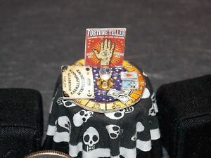 Dollhouse Miniature Halloween Fortune Teller Table Top  1:24  1/2 inch scale G80