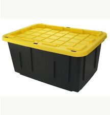 Centrex Plastics 27-Gallon Black Tote with Standard Snap Lid Made in USA