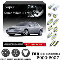 11x For Ford MONDEO MK3 00-07 Xenon White 6K Car Interior LED Light Package Kit