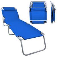 Portable Ostrich Lawn Chair Folding Outdoor Chaise Lounge Pool Beach Patio Blue