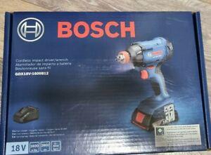 NEW Bosch 18V 1/4 In. and 1/2 Socket-Ready Impact Driver Kit GDX18V-1600B12