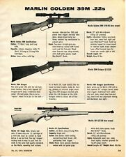 1974 Print Ad of Marlin Golden 39M Lever Action & 101 Bolt Action Rifle