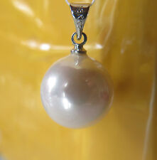 PENDENTIF PERLE BLANCHE nacré 15mm... SOUTH SEA SHELL PEARLS