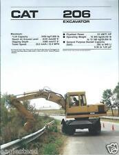 Equipment Brochure - Caterpillar - 206 - Wheel Excavator - c1989 (E2383)