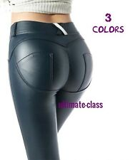 Women Leather Pants Stretch Pencil Dominant Lady Sexy Butt Dominatrix style