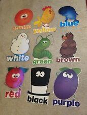 Laminated Childhood Teacher Colors Bulletin Board Display