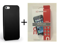 New Verizon Silicone Black Case+RandomOrder Screen Protector For iPhone 5/5s/SE