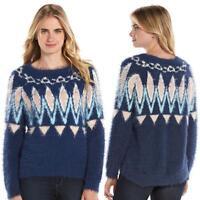 Women's Lauren Conrad Fairisle Eyelash Boatneck Sweater