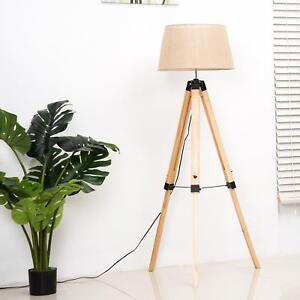 Tripod Floor Lamp Cream Stylish Modern Design Standing Light Height Settings New