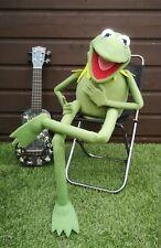 KERMIT THE FROG Puppet from Green Fleece Muppet, Replica 1:1 Hand Made