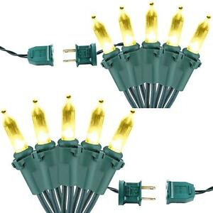 2 Pack Decorative Lights 33ft 100 LED Connectable Light Set 120V UL Certified