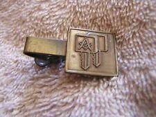 Vintage Mason's Tie Clip Clasp Tack