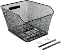 Bikecorp Rear Wire Bike Basket Mesh Black
