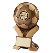5 x 120mm metallic resin Football Trophies (RRP £42.50) postage + engraving inc