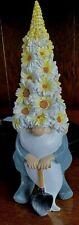 Garden Gnome or Gonk in Tall Daisy Chrysanthemum Mum Hat Ornament Statue 27cm