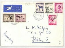 SWA South-West Africa Cover 1957 ANIMALS Issues Namibia Ludertz GIRAFFE BN139