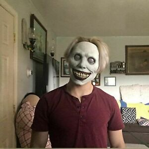 Creepy Halloween Mask Smiling Demons Horror Face The Evil Cosplay Props Headwear