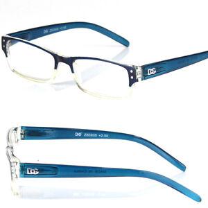 New Rectangular Spring Hinge Power Reading Reader Glasses For Men Women Fashion