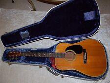 Beautiful Vintage Martin D-28 Guitar With Internal Pick-up Mic & Blue Hard Case