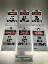 Lockout Tagout Laminated Tags Danger Do Not Operate Set Of 6