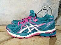 Asics Women's Sz 8 Gel Flux 3 Blue Pink Athletic Sneakers Running Shoes T664N