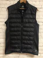 Old Navy Active Black Runner Vest Full Zip Lined Pocket Reflective Strip Small