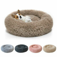 Comfort Plush Pet Dog Cat Bed Fluffy Soft Warm Calming Bed Sleeping Kennel Nest