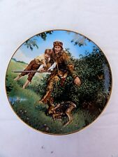 "Bradex American Folk Heroes "" Davy Crockett "" Collector Plate Numbered"