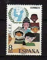 A7796) Spain 1971 Scott #1689 MNH Unicef 1v